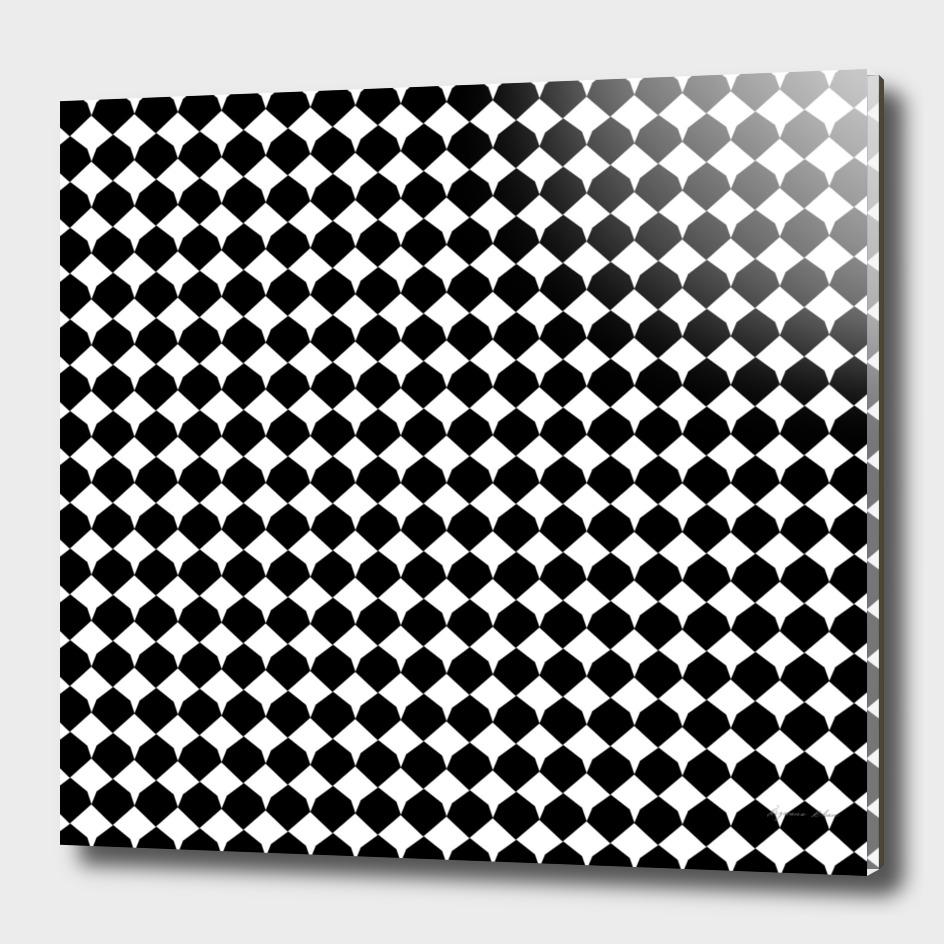 Black & white Diamond Seamless Pattern