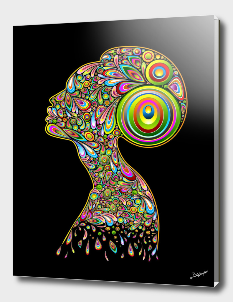 Woman Abstract Psychedelic Portrait