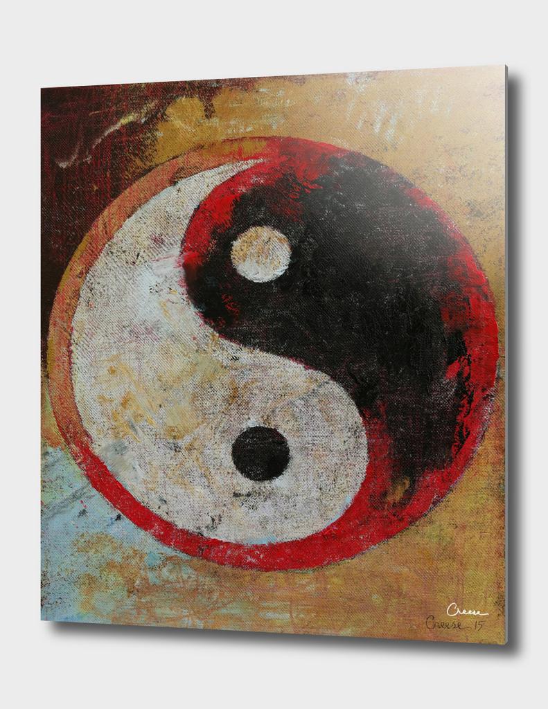 Yin Yang Red Dragon