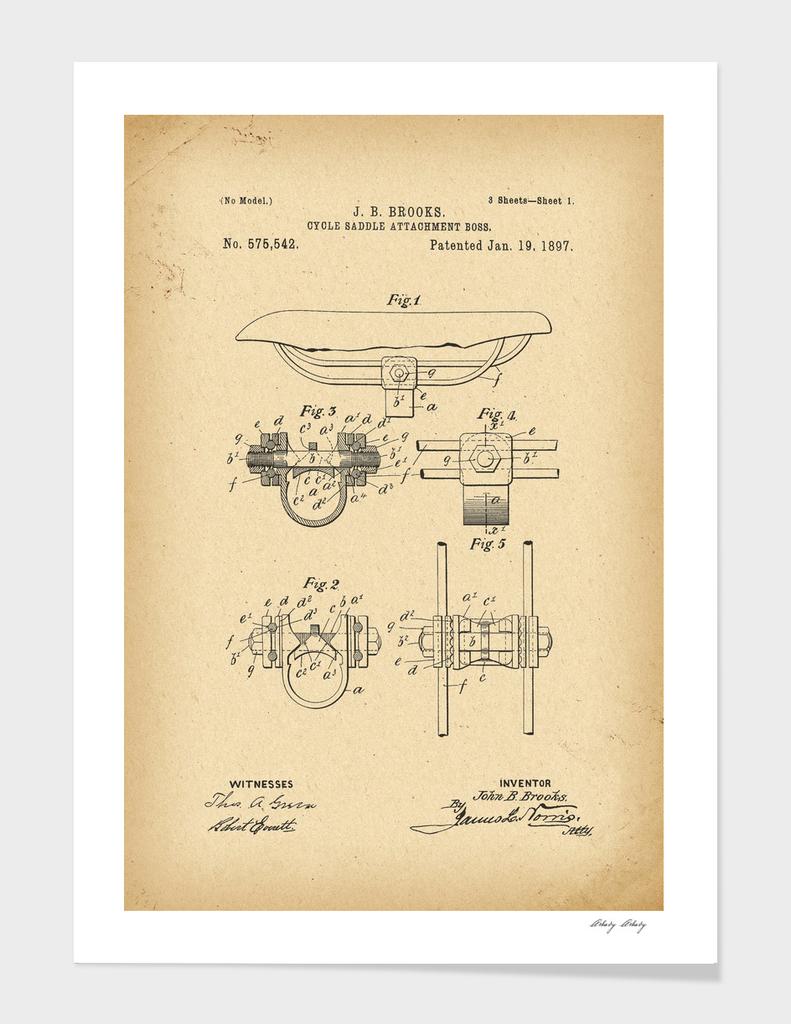 1897 Patent Bicycle saddle