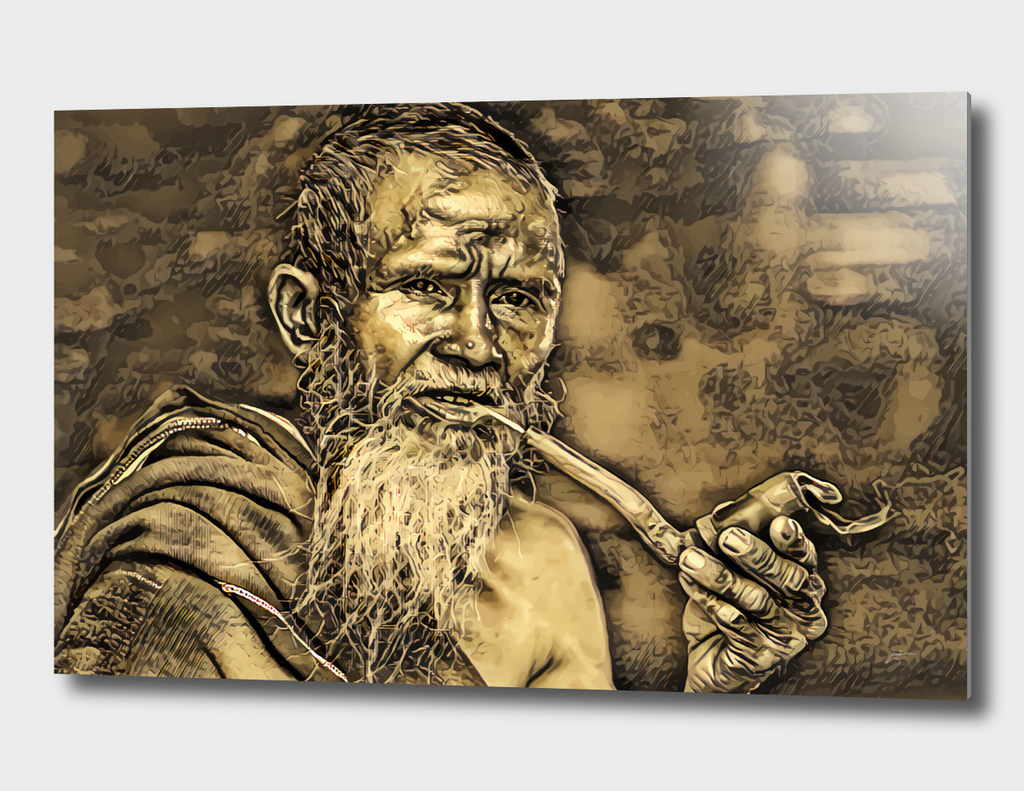 Old Men with Pipe