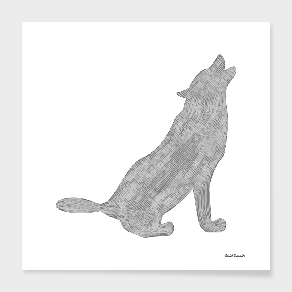 Silhouette of the wolf