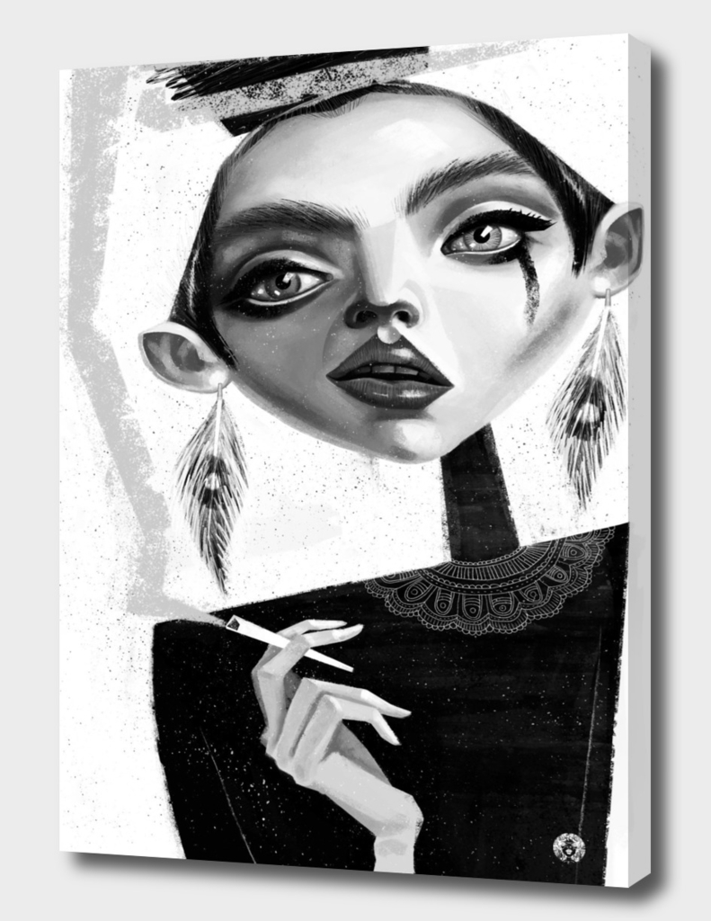 Girl with a cigarette