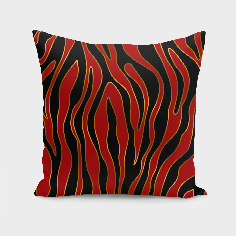 Zebra Red and Gold