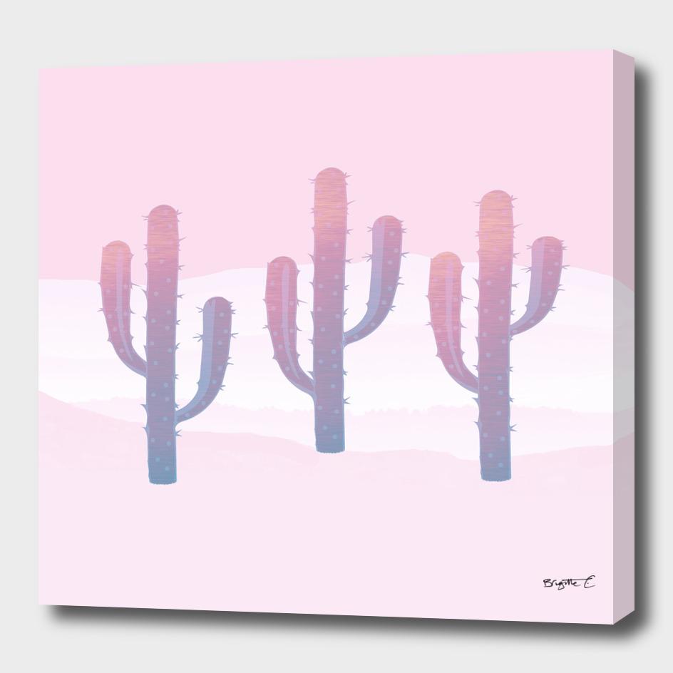 Dreamy Pastel Cacti Design