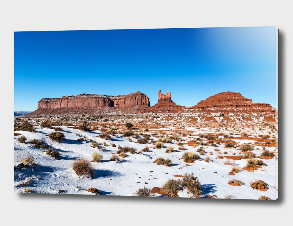 Monument Valley between Arizona and Utah in United States