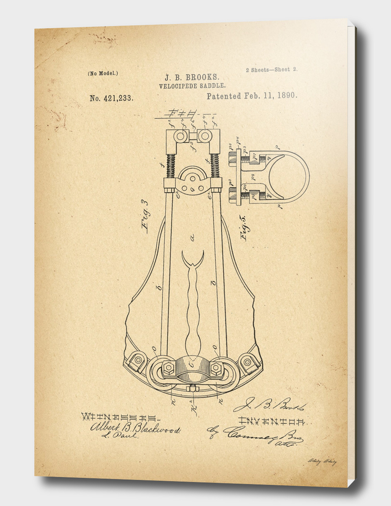 1890 Patent Bicycle saddle