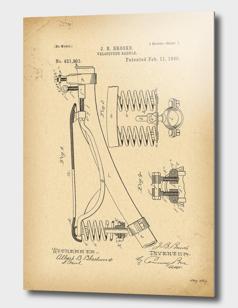 1890 Patent Bicycle saddle