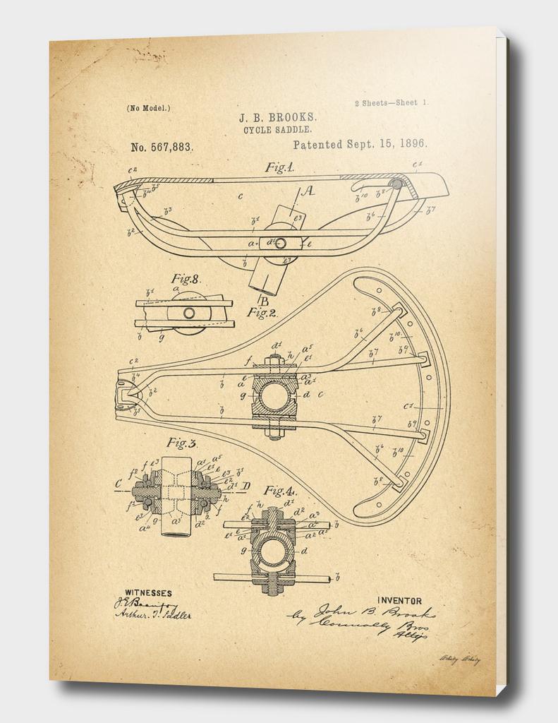1896 Patent Bicycle saddle