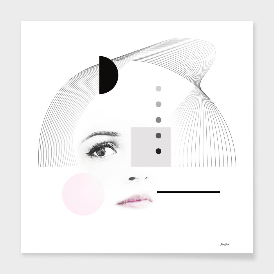 Dreamer Girl - Black and White Portrait