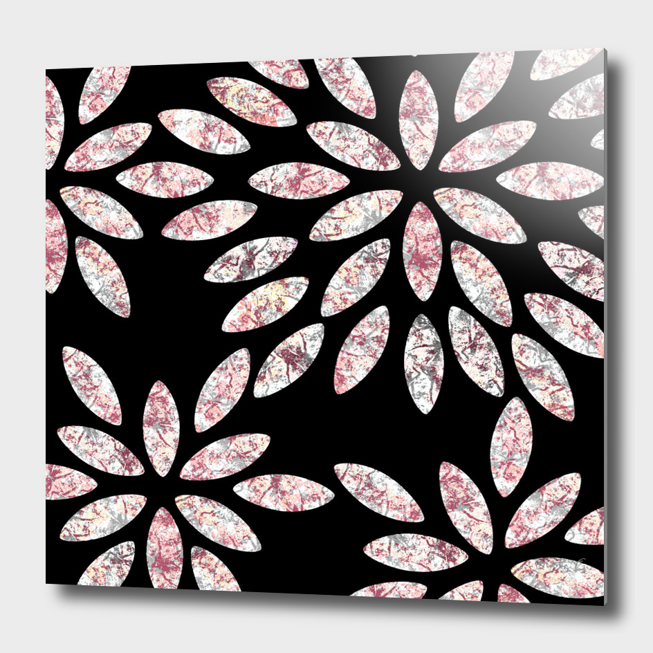 Marbled Flowers Pattern