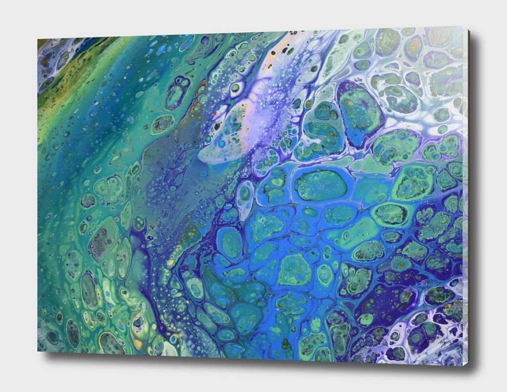 Acrylic Pour, Fluid Art, Acrylic Flow, Abstract Painting