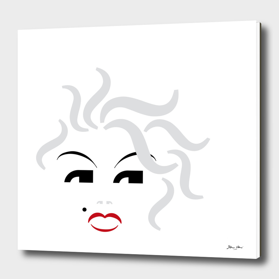 Type Faces - Marilyn - Black and White