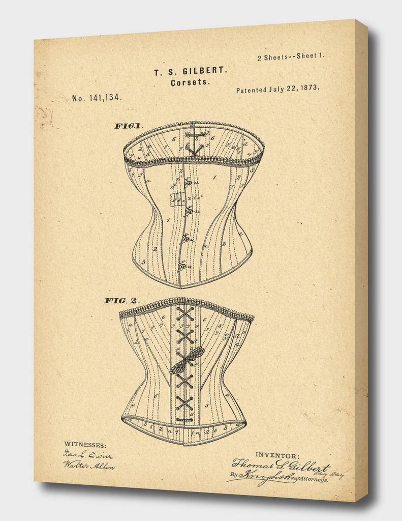 1873 Patent Corset history fashion innovation