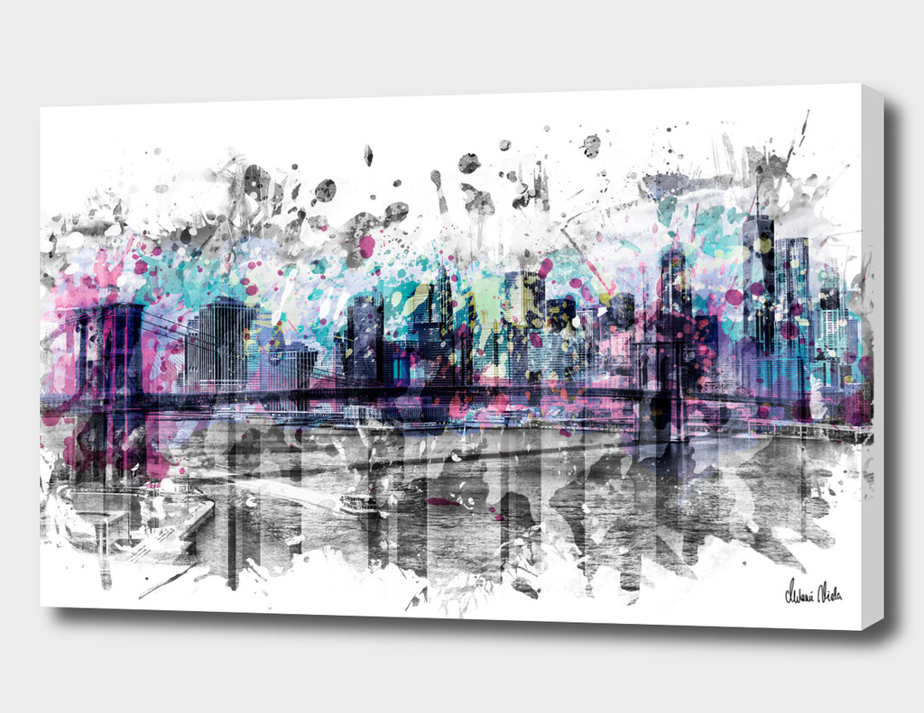 Modern Art NEW YORK CITY Skyline | Splashes