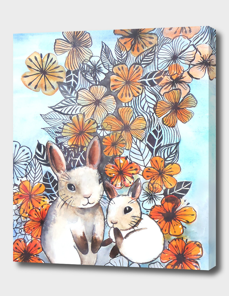 Flower Power bunnies