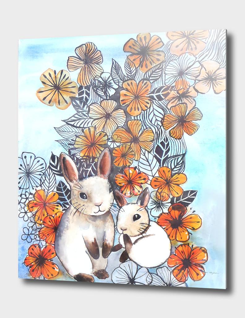 Flower Power bunnies