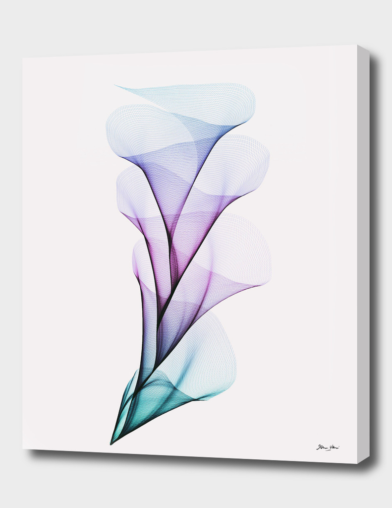 Fluid Flower Bouquet - Aqua, Violet and Blue