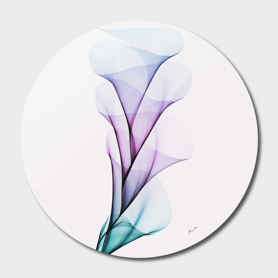 Fluid Flower Bouquet - Aqua, Violet and Blue
