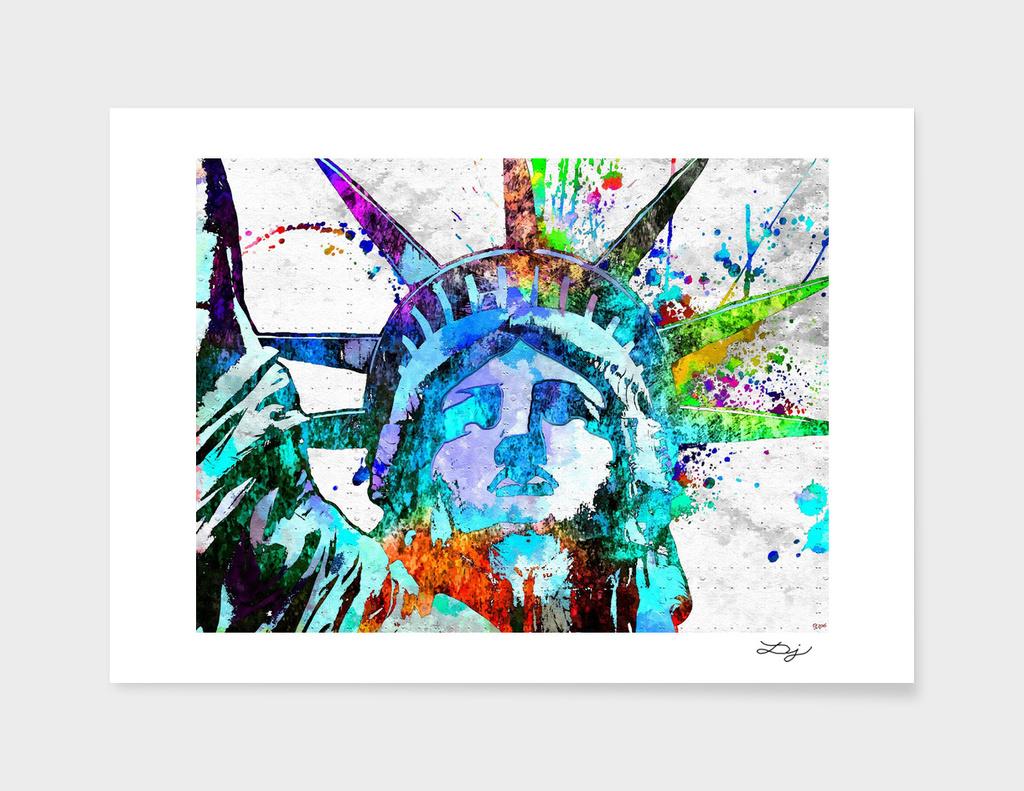 Statue of Liberty Grunge