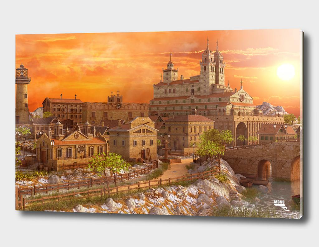 Fantasy Sunset Town