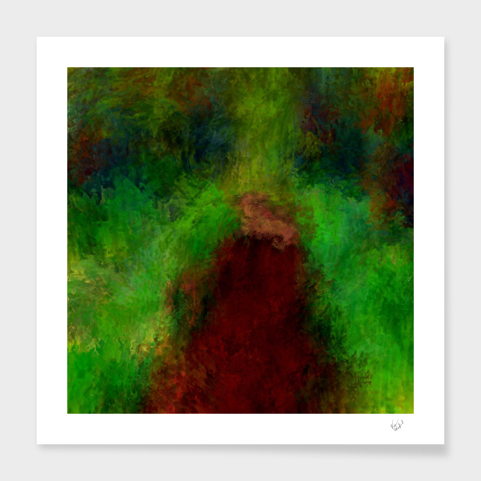 Wooded path abstract