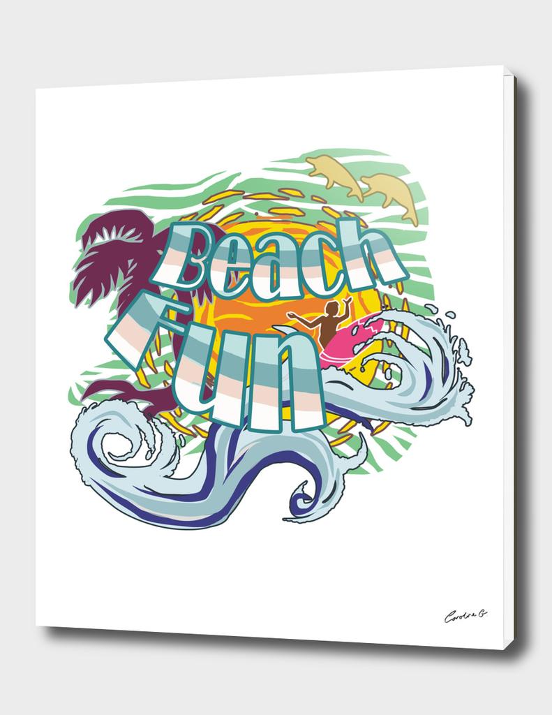 Hawaii Sufer Beach Fun With Wave