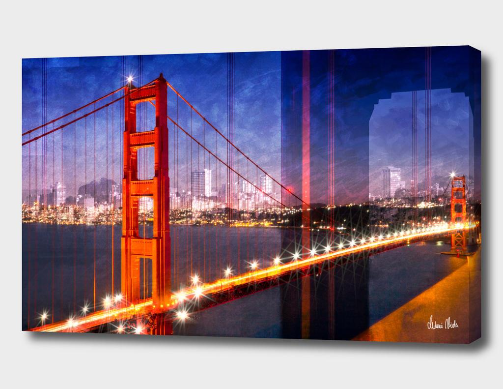 City Art Golden Gate Bridge Composing