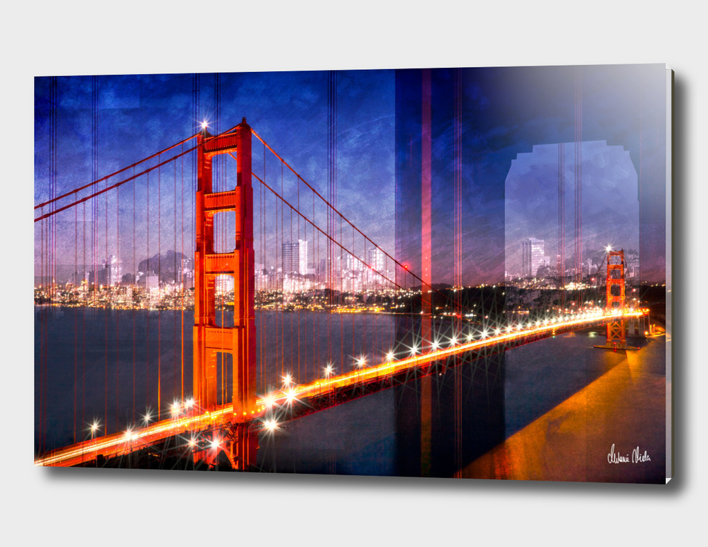 City Art Golden Gate Bridge Composing
