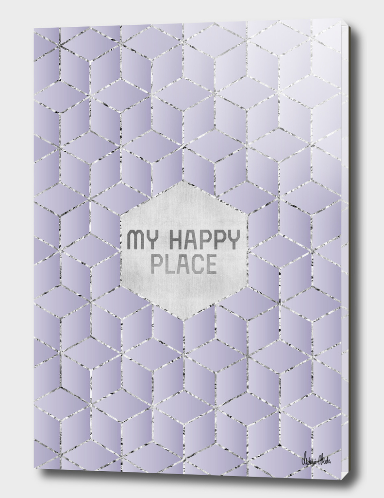 GRAPHIC ART SILVER My happy place | purple