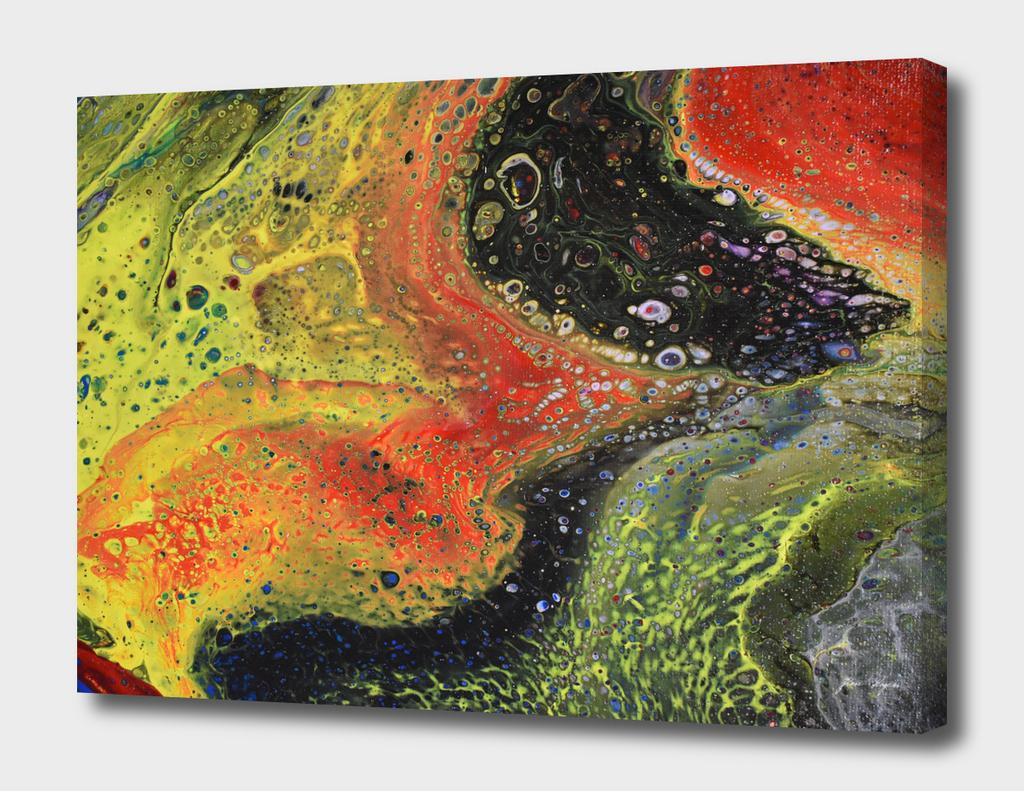 Fluid Art Painting, Acrylic Flow, Pour Painting