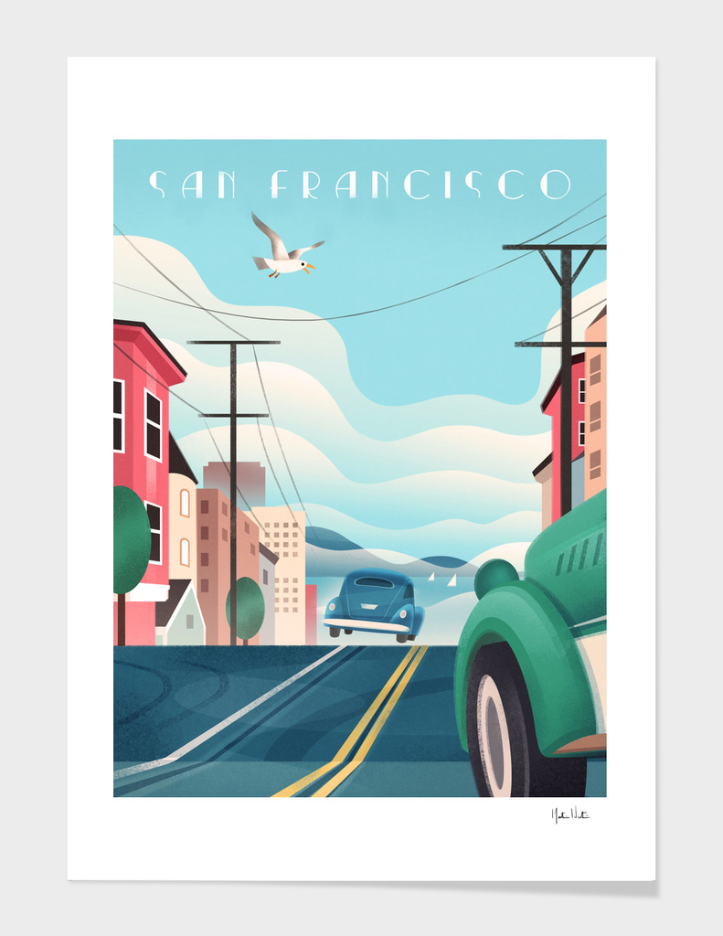 Art Deco San Francisco Car Chase