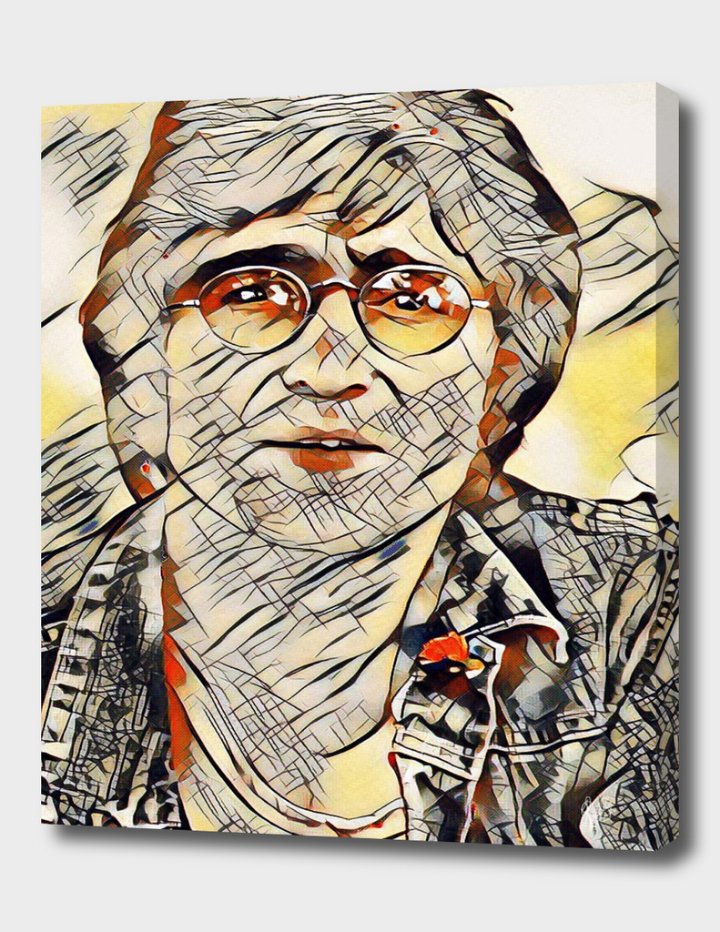 JOHN LENNON IN KANDINSKY STYLE (No.1)