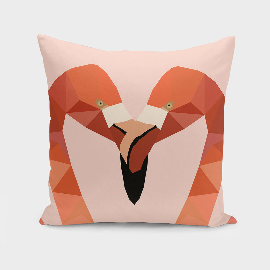 Flamingo Bird LOW POLY ART