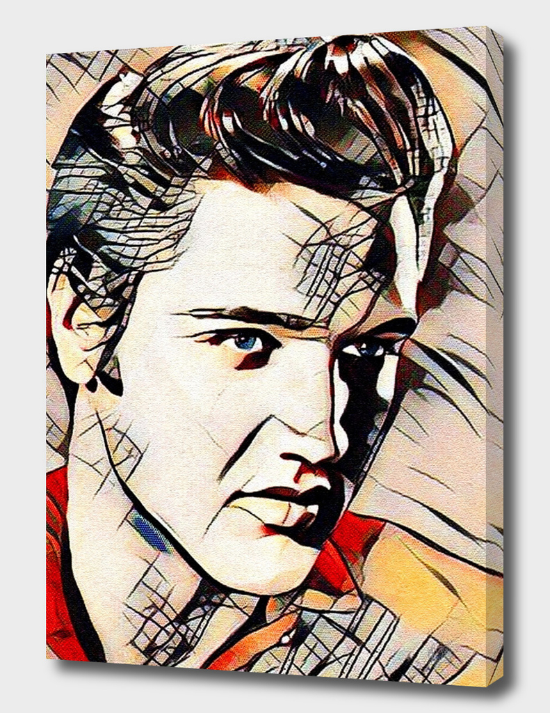 ELVIS PRESLEY IN THE STYLE OF KANDINSKY (No.1)