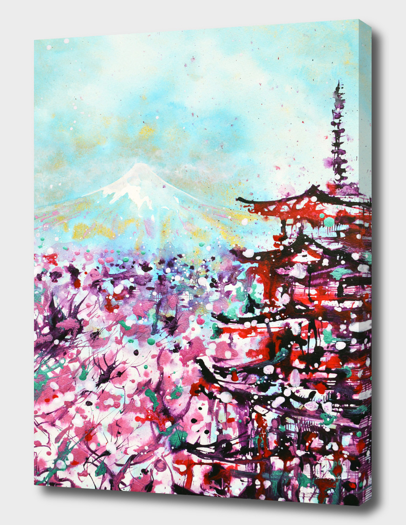 Mount Fuji and the Chureito Pagoda in Spring