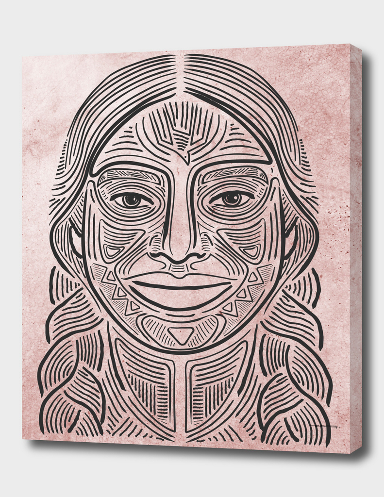 Indigenous woman hand drawn illustration