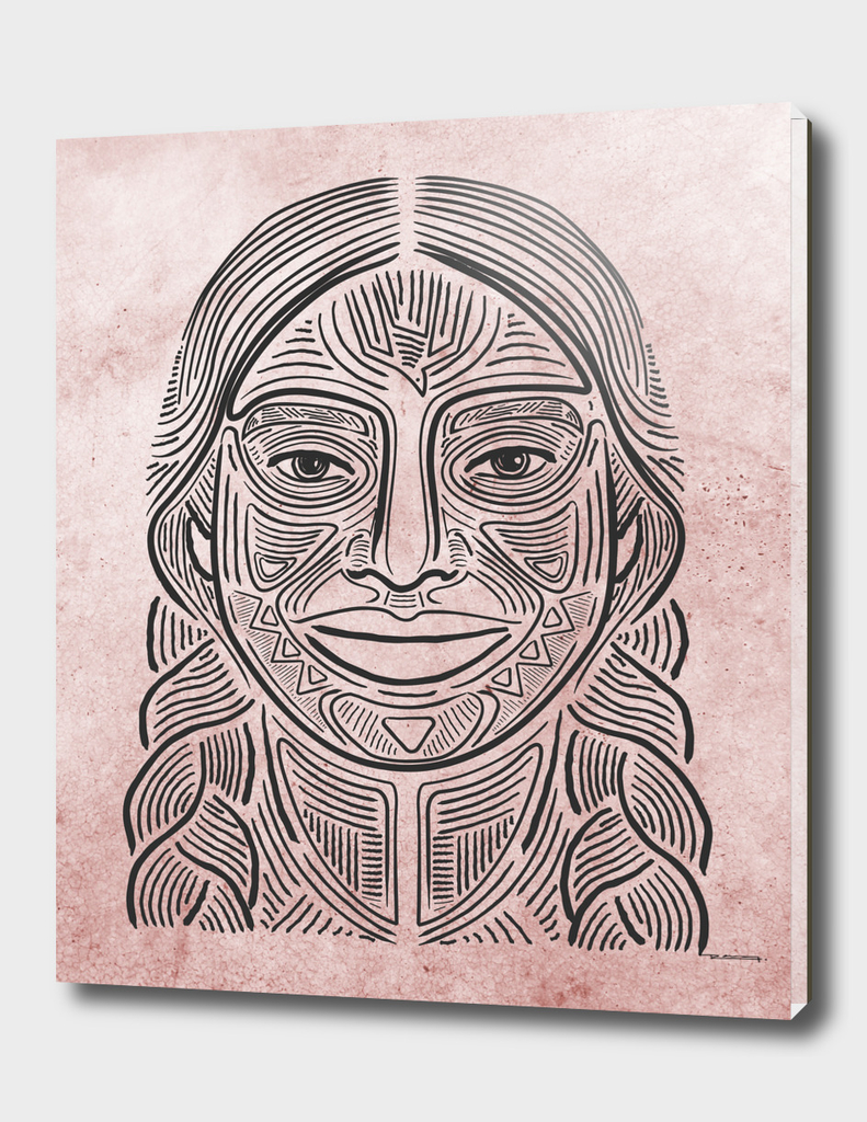 Indigenous woman hand drawn illustration