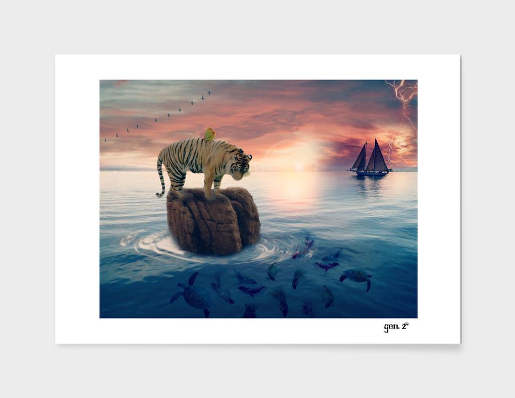 Tiger Drifting by GEN Z