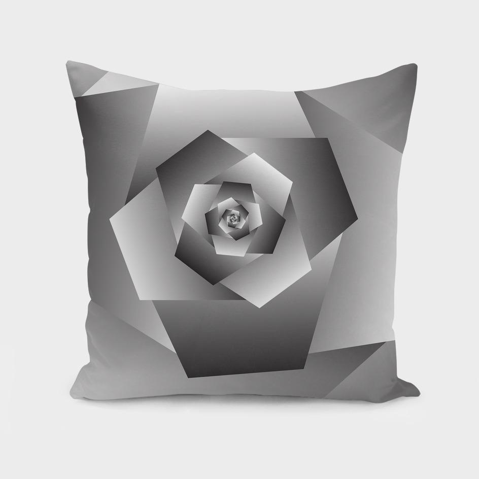 Monochrome Rose Spiral Background ART