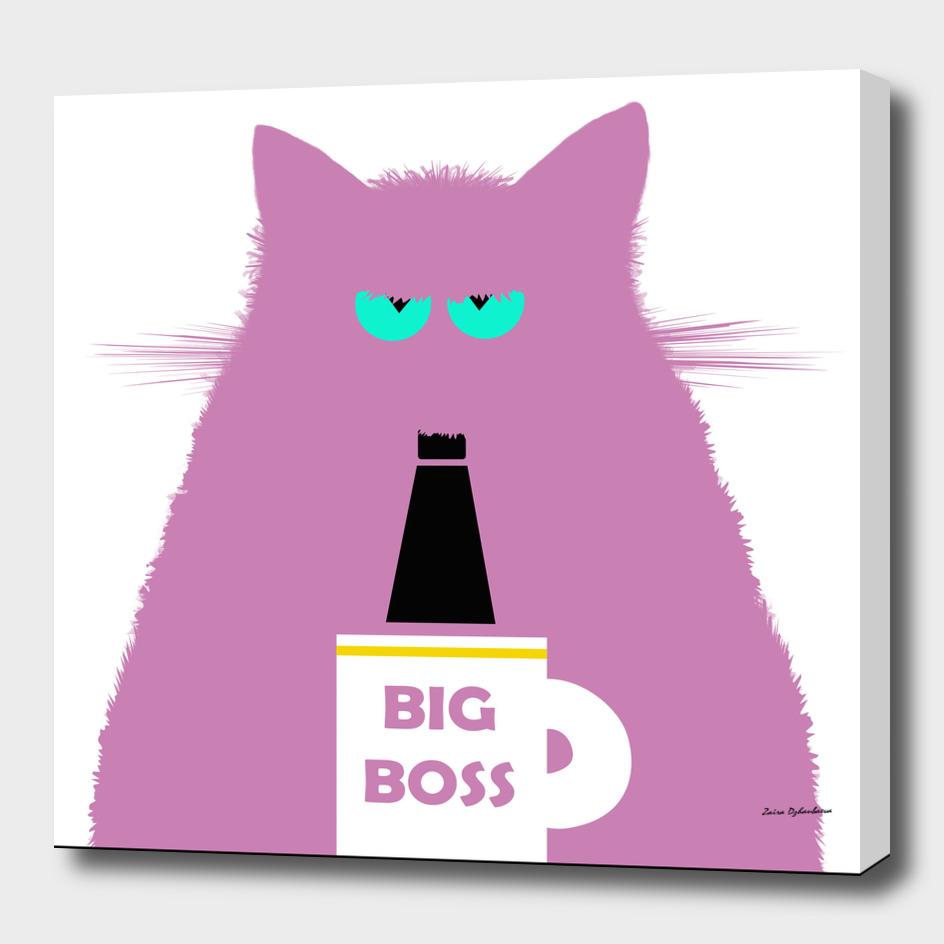 Big Boss Lilac Cat