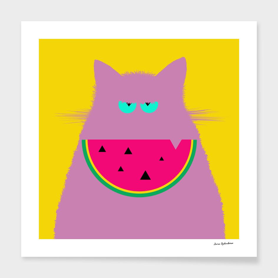 Watermelon Lilac Cat