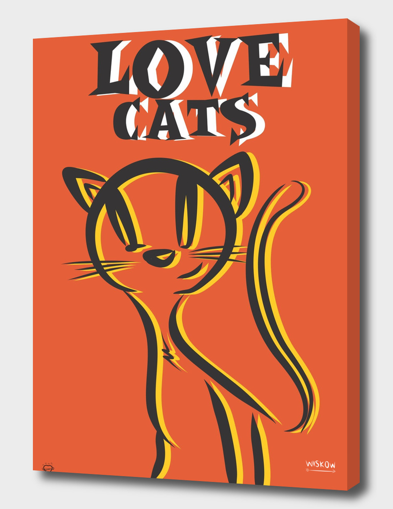 LOVE CATS orange