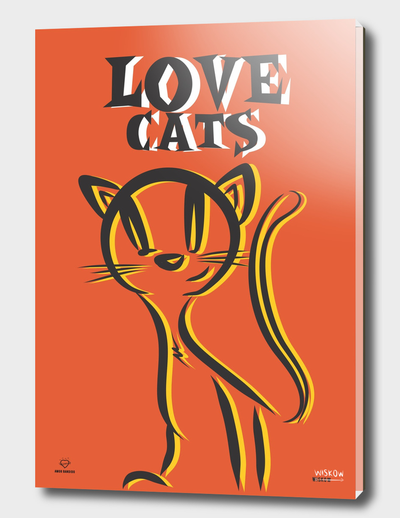 LOVE CATS orange