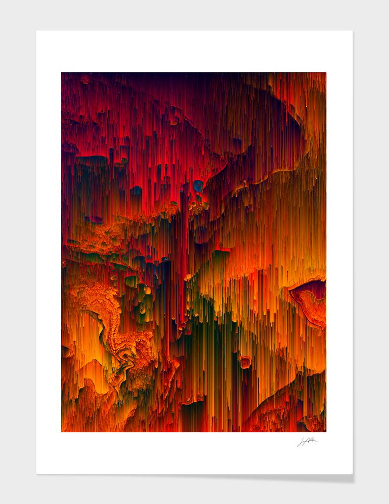 Toxic Rain - Pixel Abstract