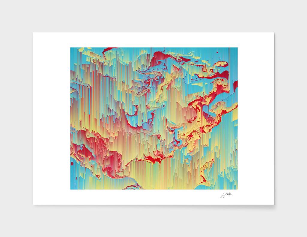 Vivid Storm - Abstract Pixel Art
