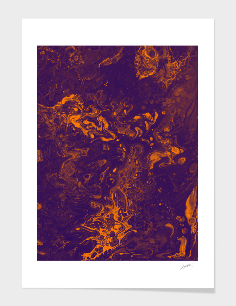 Golden Smoke - An Abstract Piece