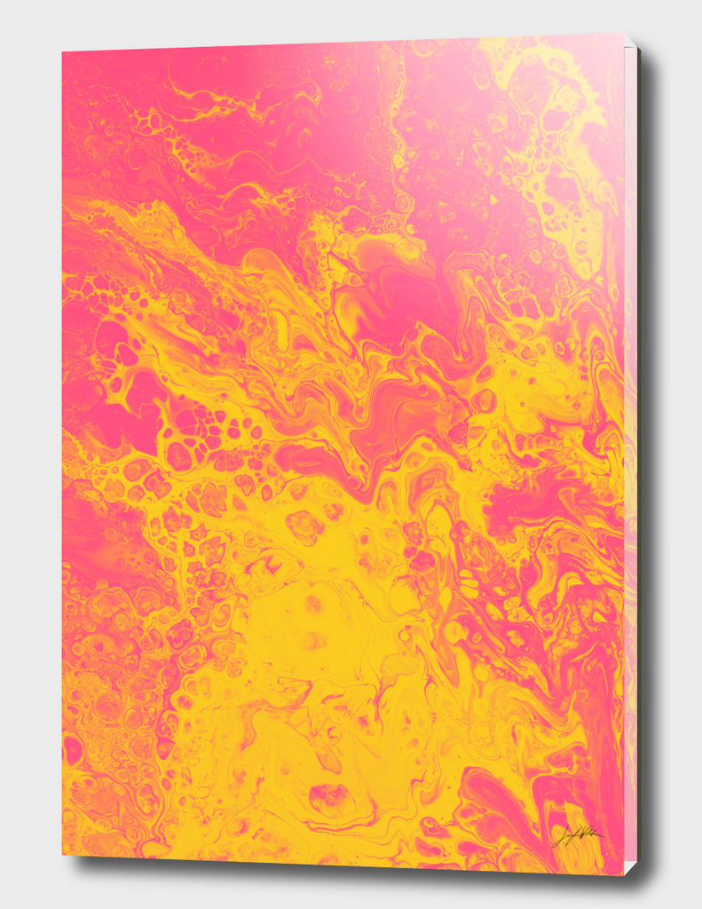 Pink & Yellow Marble - An Abstract