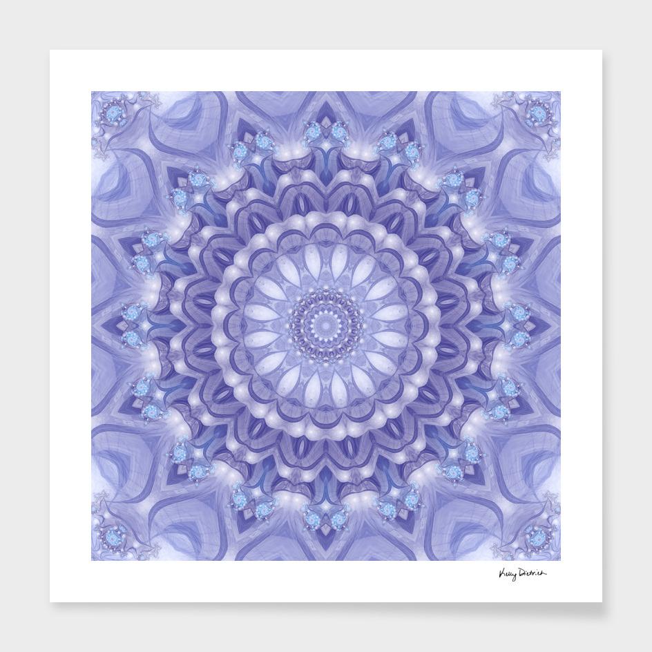 Light Blue, Lavender and White Mandala 02