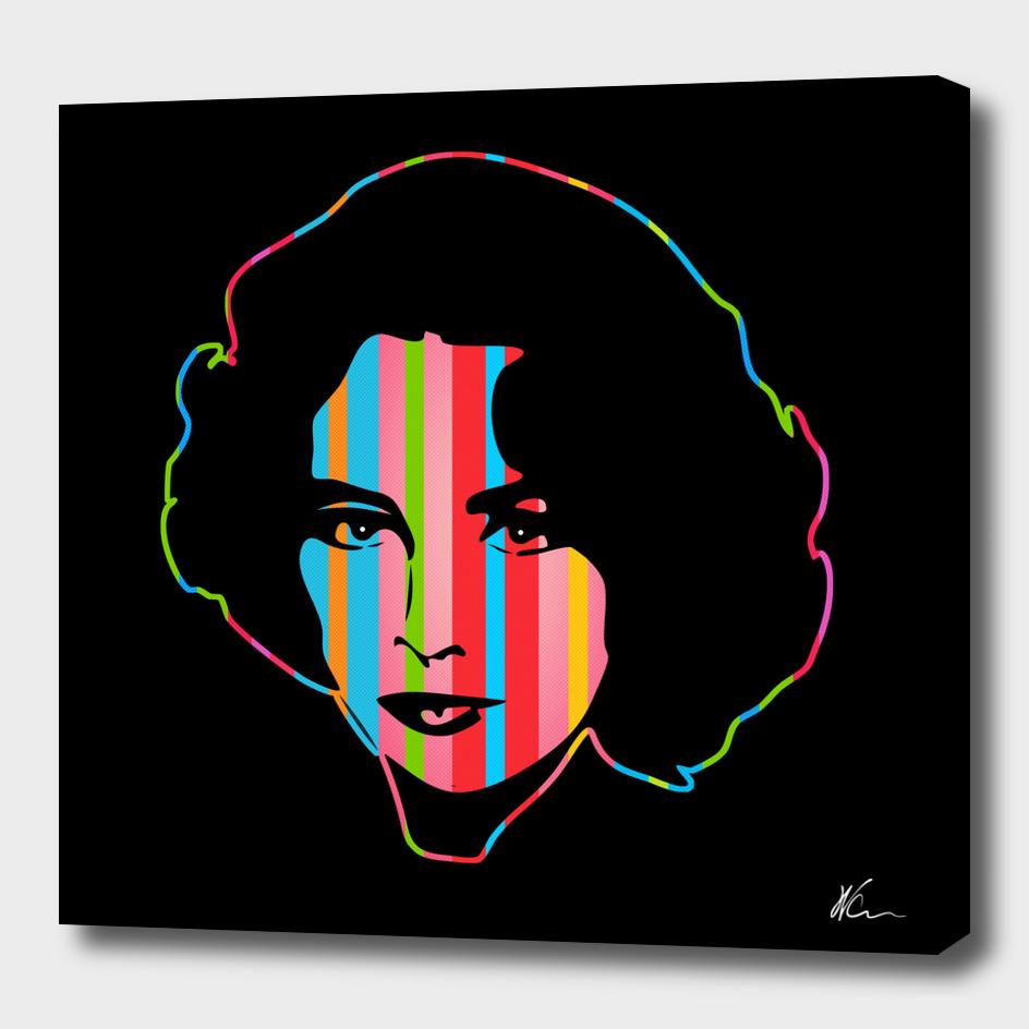 Elizabeth Taylor | Dark | Pop Art